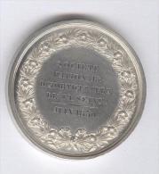 Médaille Société D'Horticulture De La Seine - Juin 1850 - Mr Dusacq - La Revue Horticole - 2ème Prix - Argent - France