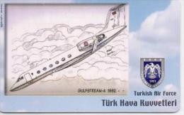 TURKEY PHONECARD GULFSTREAM 4 1992 AIRPLANE TR-C199  11/06,-200000pcs-USED(2) - Airplanes