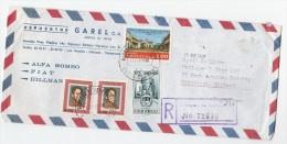 1969 REGISTERED Air Mail COVER VENEZUELA Stamps 3 Falcon State 1.00 Maracaibo Etc To GB - Venezuela
