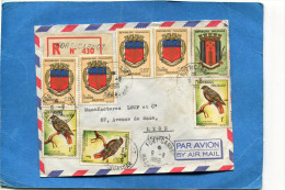 MARCOPHILIE-  Lettre-REC -Madagascar>Fran�e-cad Fort carnot -1966-10 -stamps blasons +oiseaux