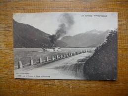 """Lac D'annecy Et Route D'alberville """" Carte Animée Beau Bateau Sur Le Lac """" - Autres Communes"""