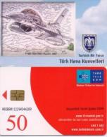 TURKEY PHONECARD F-16D FIGHTING FALCON 1987 AIRPLANE TR-C194  10/06,-540000pcs-USED(2) - Avions