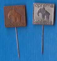 Elephant SLOVENIA Pins Oprema Kočevje Equipment Of Commercial Vehicles, Tarpaulins For Trucks - Badges