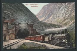 Tunnel Gottard. Train.    Litho 2135.    Gotthardbahn Expresszug. - UR Uri