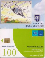 TURKEY PHONECARD CF 104D SUPERSONIC TRAINER FIGHTER 1986-94 AIRPLANE TR-C192  10/06,-225000pcs-USED(2) - Avions