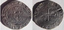 Rhône Alpes Allier Saint Pourçain Sur Sioule 1436 - 1456 Blanc à La Couronne (aux Couronnelles) Charles VII VARIETE RARE - 987-1789 Monnaies Royales