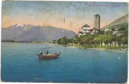 I3910 Rivapiana Verso Locarno - Panorama Sul Lago Maggiore - Barche Boats Bateaux / Non Viaggiata - TI Tessin