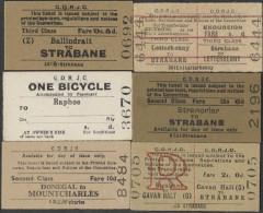 BB255 IRELAND 6 County Donegal Railway Tickets Strabane Cavan Halt Stranorlar Ballindrait Raphoe - Europa