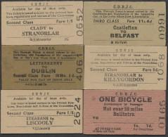 BB257 IRELAND 6 County Donegal Railway Tickets Strabane Stranorlar Clady Castlefinn Ballintra Letterkenny - Europa