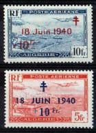 ALGERIE 1947/48 POSTE AERIENNE N° 7/8 NEUFS ** - Algeria (1924-1962)