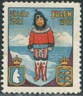 ARCTIC Arktis Arctique Greenland Grönland Groenland 1921 Julen Christmas X-mas Seal Cinderella Label Vignette Polar Bear - Sonstige