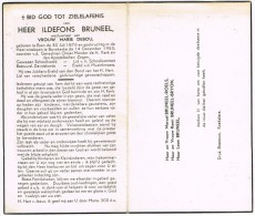 ESSEN - BOVEKERKE  , Doodsprentje Van ILDEFONS BRUNEEL (SCHOOLHOOFD) + 1953 - Religion & Esotericism