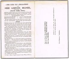 ESSEN - BOVEKERKE  , Doodsprentje Van ILDEFONS BRUNEEL (SCHOOLHOOFD) + 1953 - Religion & Esotérisme