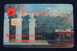 ALBANIA 6 DIFFERENT PHONE CHIP CARDS USED. - Albanie