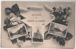 CP CERISY FORET SOUVENIR (50 MANCHE) ERMICE EDITEUR - France