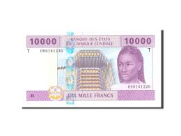 États De L'Afrique Centrale, 10,000 Francs, 2002, Undated, KM:110T, NEUF - États D'Afrique Centrale