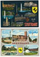 GERMANY  STUTTGART TWO  POSTCARD 1 - Stuttgart