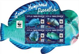MALDIVES 2016 ** Green Humphead Parrotfish Büffelkopf Papageifisch M/S - OFFICIAL ISSUE - A1603 - Ungebraucht