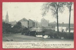St-Ghislain - Pont Sur La Haine Et La Rue Maigret - 1904 ( Voir Verso ) - Saint-Ghislain