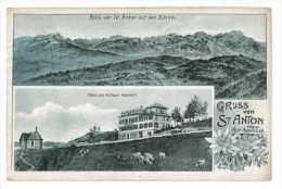 CPA SUISSE GRUSS VON ST-ANTON - Svizzera