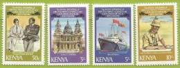 Kenya 1981 191 à 194 ** Mariage Prince Charles Et Lady Diana Spencer Cathédrale Saint-Paul Yacht Britannia - Kenya (1963-...)