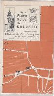 C2009 - MAP - PIANTA GUIDA DI  SALUZZO - CUNEO Ed.Geo-Cart Castiglioni - Carte Topografiche