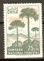 CHILI   -   Aéro   -   1967 .  Y&T N° 239 **.    Foret  /  Arbres - Chile
