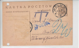 ENTIER   -1920 -  POUR BERLIN -  (2 TROUS DE CLASSEMENT) - YC VAL COMPLEMENTAIRE - Stamped Stationery