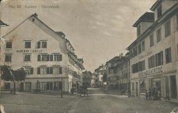 AK 0337  Sursee - Oberstadt / Gasthof Kreuz , Gasthaus Zum  Löwen , Warenhaus Herzog Um 1910-20 - LU Lucerne