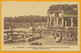 Indochine Cpa80 Ankor (Tonkin), Visite Des Ruines Par Le Maréchal Joffre Et Le Conservateur Evènements, Militaire, Neuve - Zonder Classificatie