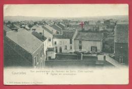 Courcelles - Vue Panoramique Du Hameau De Saris Et ... Eglise En Construction ( Voir Verso ) - Courcelles