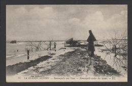 DF / GUERRE 1914 - 18 / RAMSCAPELLE (NIEUPORT, BELGIQUE) / RAMSCAPELLLE SOUS L'EAU / CIRCULÉE EN 1917 - Guerre 1914-18