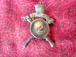 Insigne arm�e �thiopienne, �poque de Haile Selassie (unit� d�infanterie, bataillon 2)