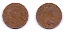 New Zealand 1 Penny 1960 - Nouvelle-Zélande