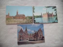 3 Cartes..MONUMENTS...HILLEROD...MAIRIE ?? - Danemark