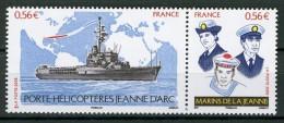 FRANCE 2009 / YT 4423 + 4424  LE JEANNE D'ARC ET SES MARINS Se Tenant   Neuf** - Neufs