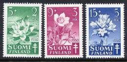 FINLAND 1950 Tuberculosis Fund Set MNH / **.  Michel 385-87 - Finland