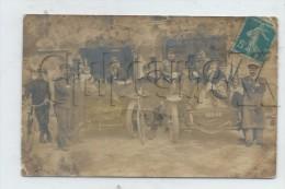 Franconville (Val-d´Oise) : GP De 2 Voitures De Livraison D´un établissement + Livreurs En 1911 (animé) RARE CP PHOTO . - Franconville