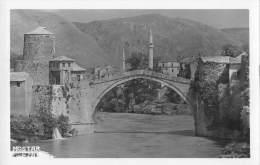 "04792 ""MOSTAR - IL PONTE - BOSNIA ERZEGOVINA"" ANIMATA. CART. POST. ORIG.  NON SPEDITA. - Bosnia Erzegovina"