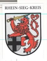 Wappen Rhein - Sieg - Kreis Löwe - Souvenirs