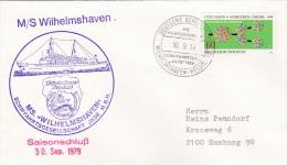 Ship Cover: M/S Wilhelmshaven - Saisonschluss 1979 P/m Ships Own Cachet 1979   (SK01-27) - Bateaux