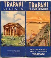 MAPPA TURISTICA DI TRAPANI ILLUSTRATA DA FRATTINI CON BELLE IMMAGINI DELLA CITTA´ E PROV. 1948 - Mappe
