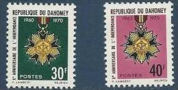 "Dahomey YT 295 & 296 "" Anniversaire Indépendance "" 1971 Neuf** - Bénin – Dahomey (1960-...)"