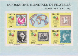 Italy 1985 World Philatelic Exhibition MNH Sheet Stamps On Stamps - Francobolli Su Francobolli