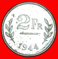 ★USA ALLIED OCCUPATION: BELGIUM ★ 2 FRANCS 1944! LOW START★ NO RESERVE! WAR (1939-1945) - 1934-1945: Leopold III