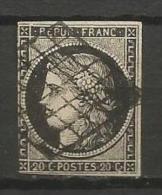 France - Cérès - N°3 - Obl. Grille -