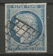France - Cérès - N°4 - Obl. Grille -