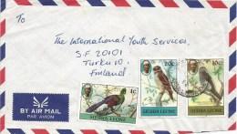 Sierra Leone 1982 Freetown Touaro 1c (1981) West African Wood Owl 20c (1981) Parrot 10c (1981) Cover - Sierra Leone (1961-...)