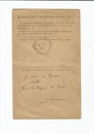 BULLETIN DE SANTE D UN MILITAIRE EN TRAITEMENT - Old Paper