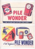 2 Buvards - Pile Wonder - Electricité & Gaz